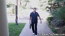 Teen skank rides stepdad video