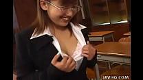 Japanese teacher pleases her student &8211; uncensored [안경쓴여자 glasses]