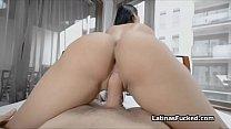 Latina football chick swaps ball for cock