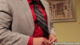 Gay uniform hunks blow...