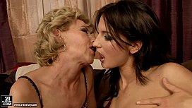 Granny Margarette Licking a...