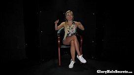 BLONDE GERMAN GABI&#039_S FIRST GLORYHOLE VIDEO