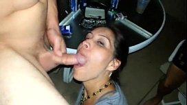 Hot Amateur wife blowjob...