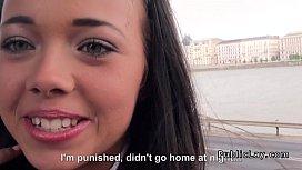 Brunette amateur student from...