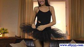 Amateur ballerina babe receives...