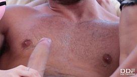 Sunny Poolside Threesome Husband...