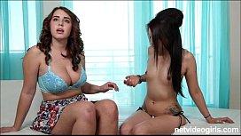 Nasty big tittied threeway...