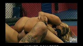 Jessica Drake wrestles her...