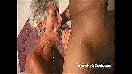 Old Mom Gets Blasted...