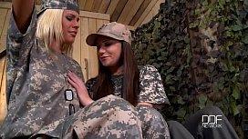 Blonde vs Brunette military...