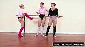 3 Lesbian ballerinas lick...