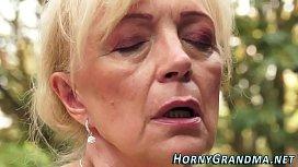 Jizz mouthed grandma blow...