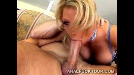 Fantastic big boobed blonde...