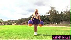 Cheerleader Tristyn Kennedy eats...