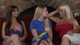Fresh teen lesbian enjoys...