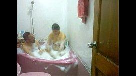 Desi aunty bath tub...