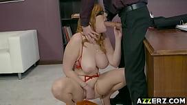 Busty redhead Lauren Phillips...