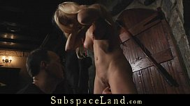 Submissive four slaves tormented...
