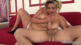 Big boobed babe gets...