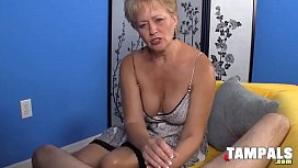 Horny Mature Blonde Jerking Guys Schlong