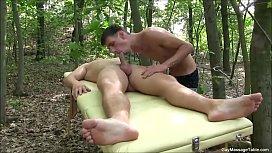 Hot Outdoor Gay Blowjob...