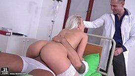 Blonde nurse got DPed...