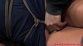 Overarm tied breast bondage...