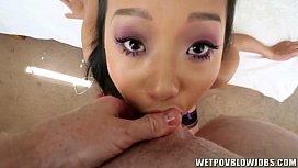 Petite asian chick Alina...
