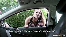Busty teen Marina gives...