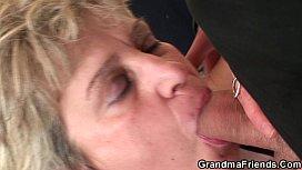 Hot grandma warms up...