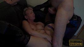 Mature Britt cocksucks dom...