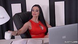 Busty Secretary Aletta Ocean...