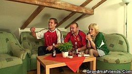 Football fans bang old...