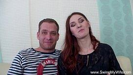 Redhead Swinger Cuckolds Husband...