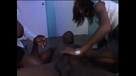 Ebony Threesome...