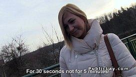 Czech student pays blonde...