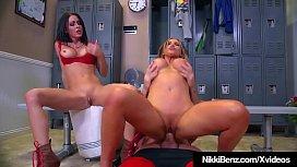 Nikki Benz &amp_ Jessica Jaymes Wrestle Mania Threesome!