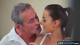 Old grandpa cock meets...