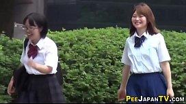 Pissing japanese teens