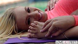 LoveHerFeet - Foot Worshiping Yoga Class With Flexible Teen Student