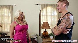 Blonde cougar Alura Jenson...