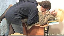 Russian mature teacher 2...