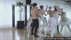 3 Teeny Ballerinas Fucked...
