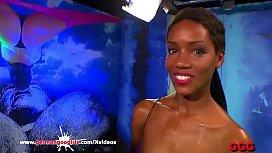 Young Ebony babe Zara...
