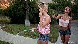 The New Lesbian Neighbor - Uma Jolie, Bella Rose - WebYoung human pony