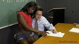 Black Student Seduces Her...