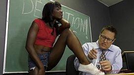 Black Student Seduces Her Teacher Into Bing Her Slave- Ana Foxxx Femdom rapeathome