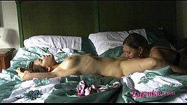 Lesbian massage - licking part...