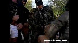 Biker Babe Gang Bang...