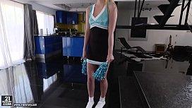 Tall cheerleader Chloe Scott...